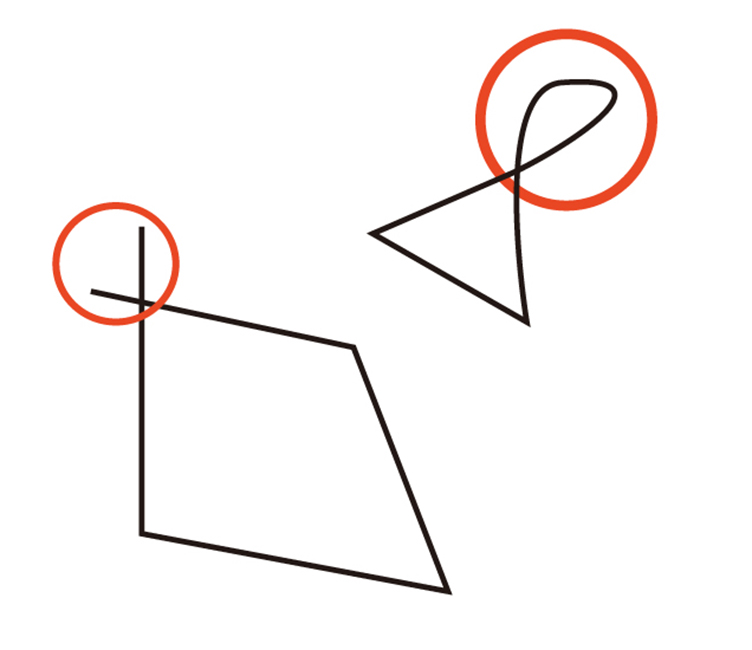 グラフィックソフト「CorelDRAW(コーレルドロー)」ではみ出したライン・図形データの一部分を削除したいときに役立つ便利機能のご紹介。