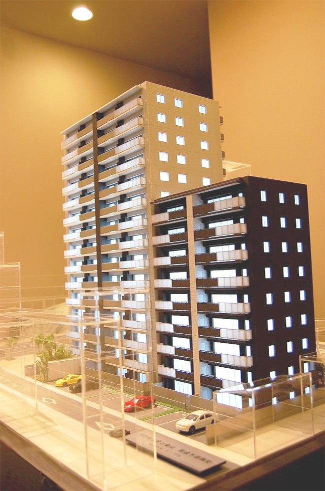 レーザー加工機・レーザーカッターを使用することで住宅・マンション・公共施設の建築模型の製作も可能になります。