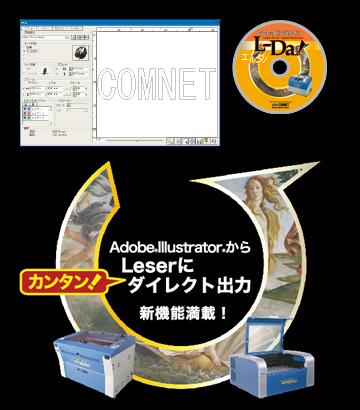イラストレータープラグインカスタマイズ開発事例 「レーザー加工機・制御ソフトウェア 」L-Da!
