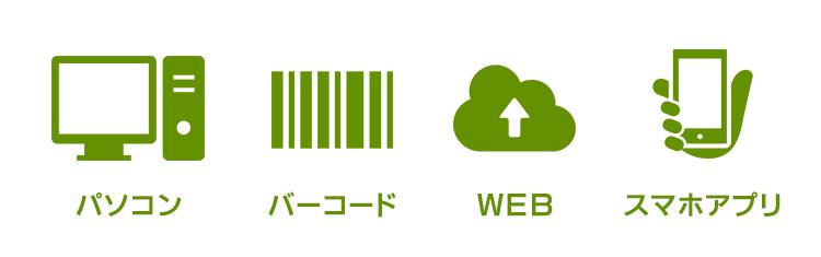 業務支援ソフト「SignJOBZ(サインジョブズ)」は、日報を登録する方法がたくさんあり、 日報を登録する方の作業環境に応じて使い分けできます。