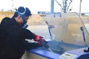 レーザー加工中に起きた火災の消火には、二酸化炭素消火器が最適
