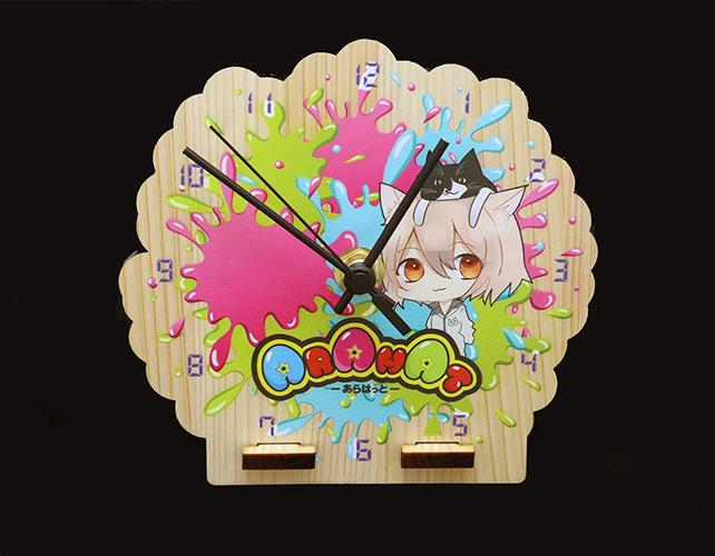 株式会社トライ様のレーザー加工製品:木製時計