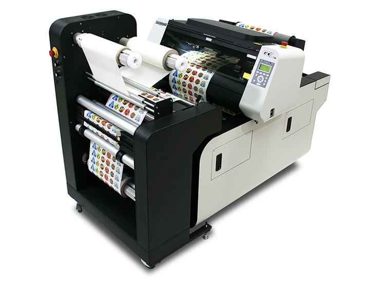 専用ラミネーターが付属した、ロールtoロール対応のシールラベル業界向けレーザーカッター(レーザー加工機)GCC LaserProシリーズ LabelExpress