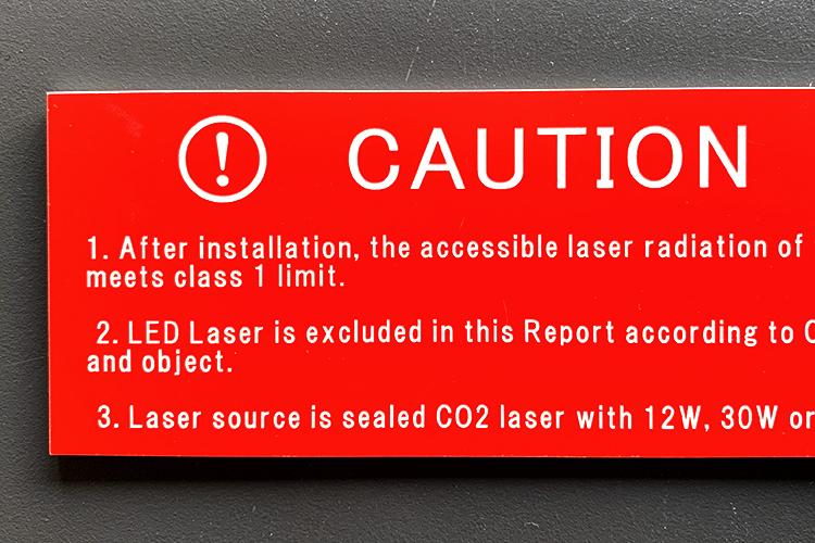 レーザーカッターで二層板を加工してできる製品2:銘鈑