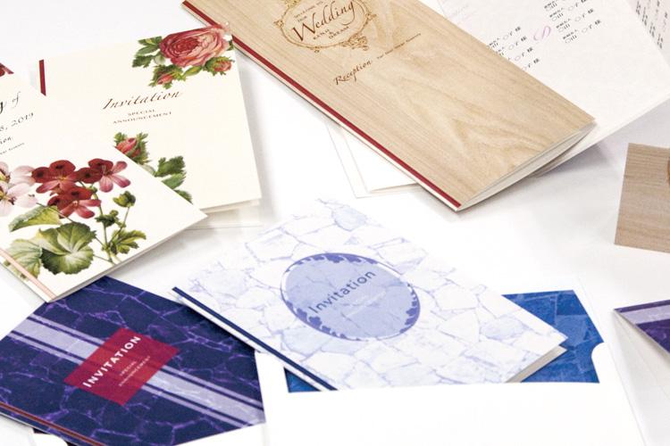 株式会社吉田印刷様の自社製品:結婚式招待状