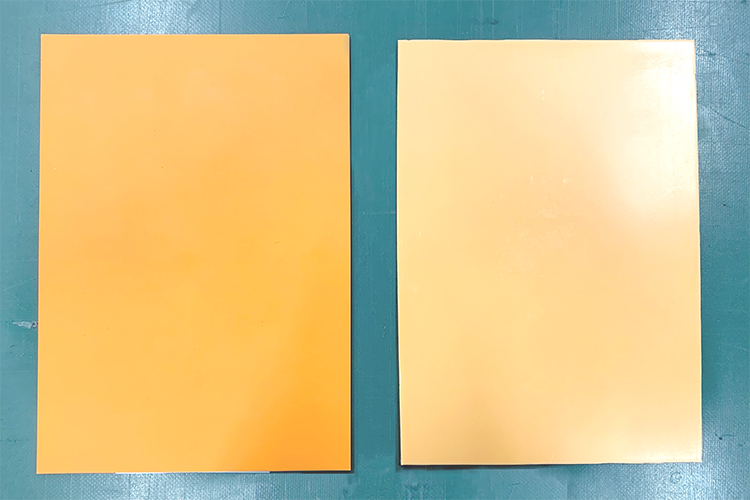 レーザー彫刻用ゴム板の無臭赤ゴムとエコオレンジラバー