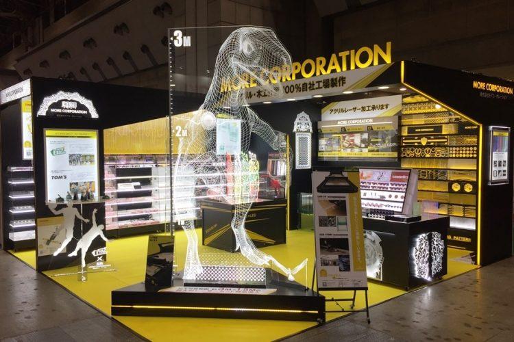 レーザー加工機の導入事例。店舗や商品を輝かせる什器・LED製作、店舗設計。株式会社モアコーポレーション様