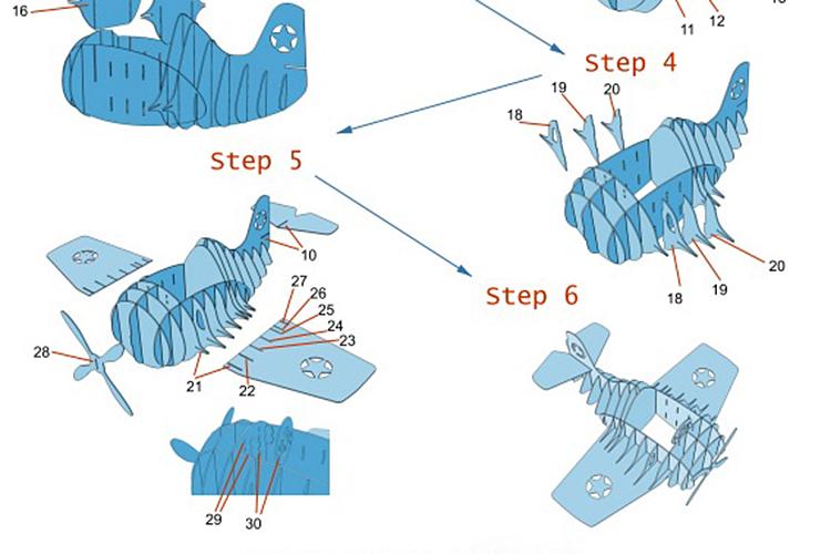 人が入れる飛行機の模型の説明書