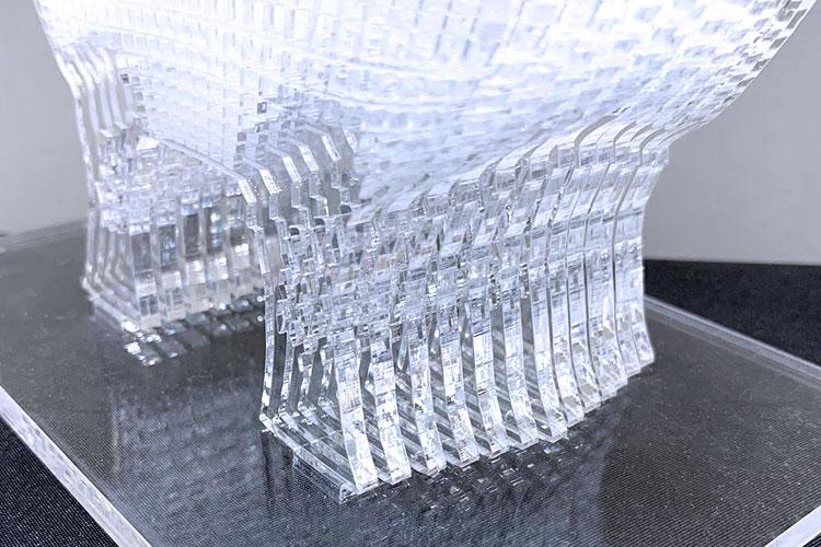 接着剤を使わずにアクリルを立体的に組み立てる加工方法・コツ:組み立てた立体物の側面