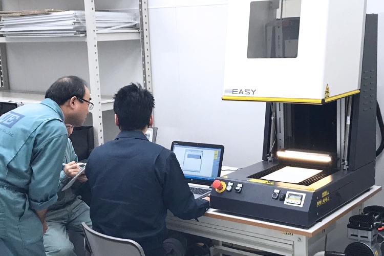 北海道で、コムネットのレーザー加工機SEIシリーズEASY(30W)をご活用中の、株式会社植松電機様。