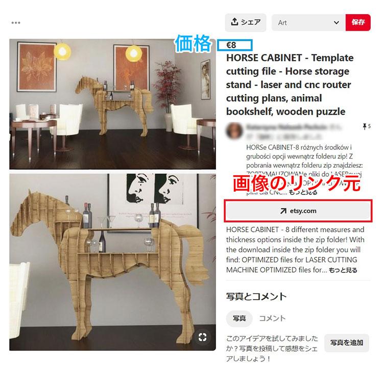 馬型の棚什器(Pinterest)