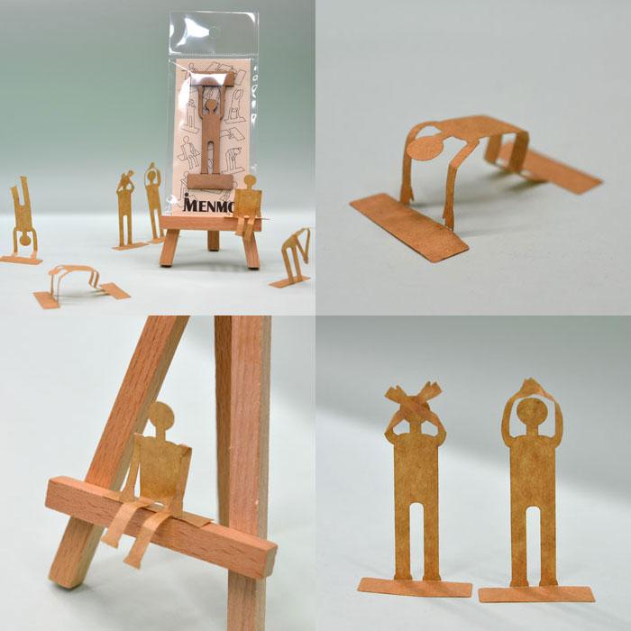 ロッカ様のレーザー加工で製作された人型メモ・付箋(ふせん)「MENMO」