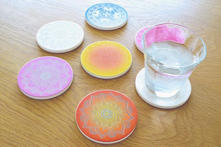 【100均素材】珪藻土コースターをレーザー彫刻・UVプリントでアレンジ!