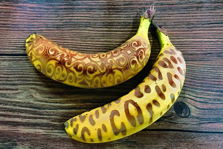 レーザー加工機・レーザーカッターで果実のレーザー加工例:バナナ