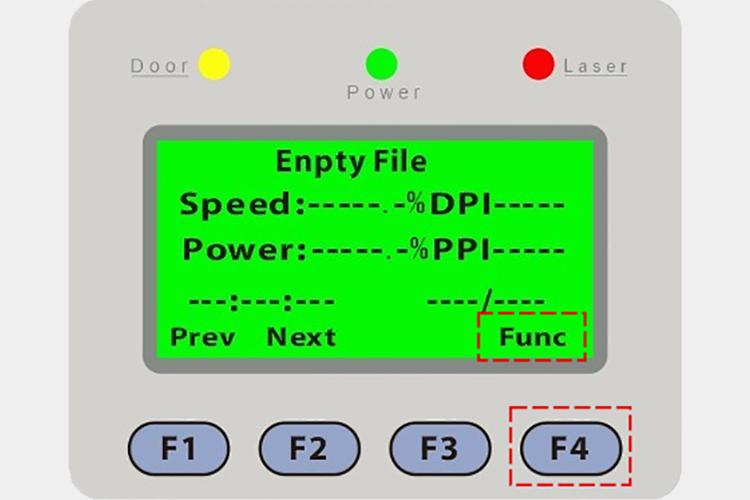 パソコンとつなぐレーザーカッター(レーザー加工機)の操作パネルからbit数を設定します