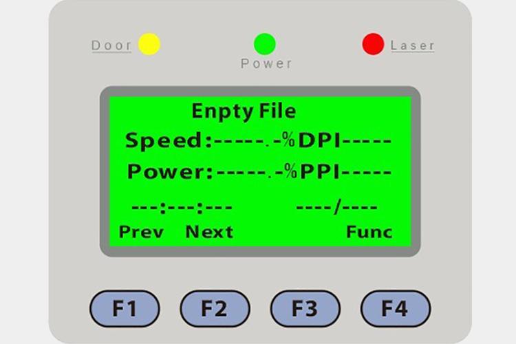 レーザーカッター(レーザー加工機)に設定したbit数が32bit・64bitに適したUSB設定が行われていたら、待機画面まで戻してください。