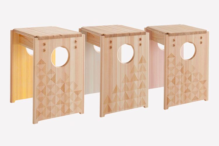 おぶすま福祉会のレーザー加工機で製作している製品:埼玉県飯能地域の西川材を活用した家具