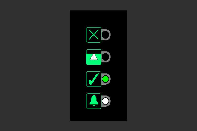 BOFA Oracleのパネル表示①緑が点灯:通常運転時