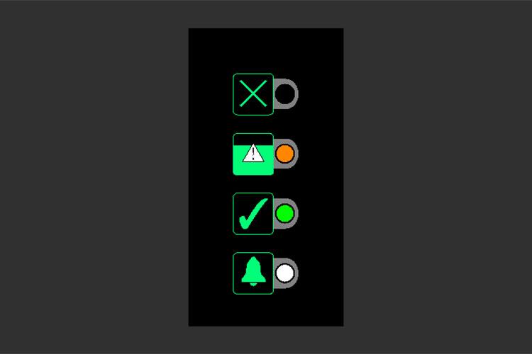 BOFA Oracleのパネル表示②緑とオレンジが点灯:75%消耗時
