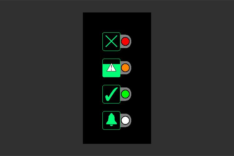 BOFA Oracleのパネル表示③緑とオレンジと赤が点灯:100%消耗時