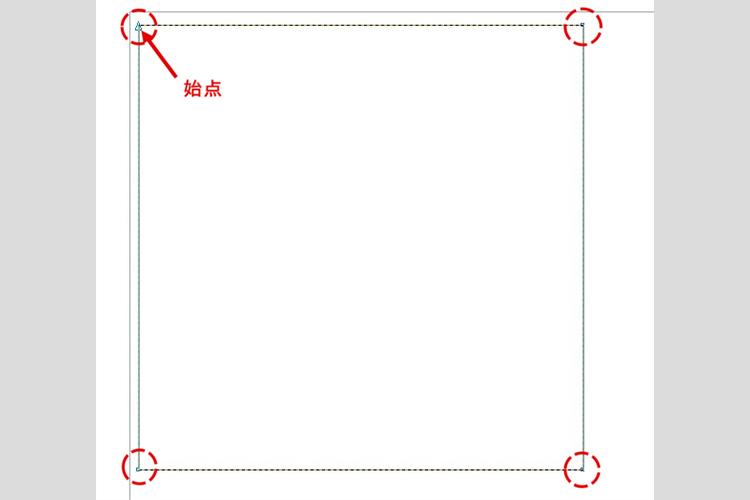 レーザーカッターのレーザー加工時に、レーザーカットの開始位置(始点)を加工データで指定・変更したい。:図形のパスがアウトライン化されていると表示されます。