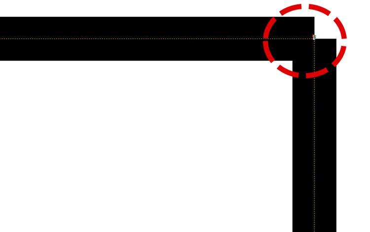 レーザーカッターのレーザー加工時に、レーザーカットの開始位置(始点)を加工データで指定・変更したい。:図形のパスが切断されたところが、レーザーの開始点になります。