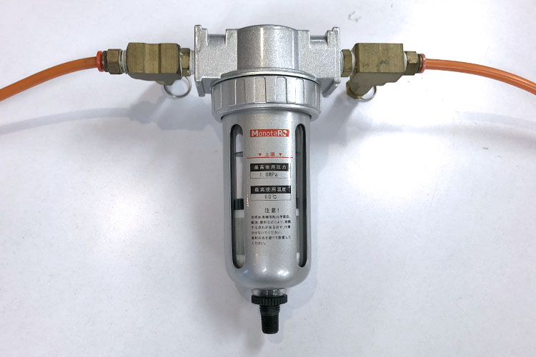 レーザーカッター・レーザー加工機のメンテナンス講座:コンプレッサーの水抜きフィルター