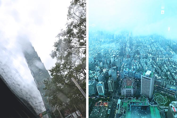 コムネット海外出張レポート(台湾):台湾、台北101での景色