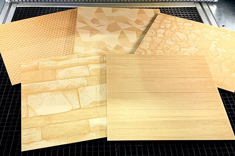 木材のレーザー彫刻加工・マーキング加工のサンプル。深掘り、シボ加工、ロゴ、グラフィック、画像、写真の彫刻など