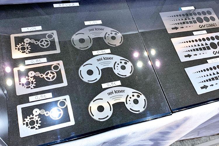 Photonix2019(フォトニクス)コムネット出展レポート:Mercury Fiberでカットした加工サンプル