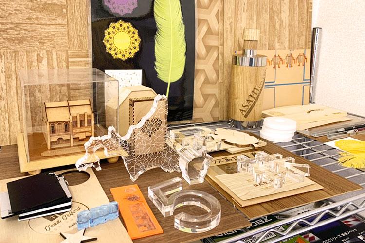北海道エリア(札幌)ショールーム:株式会社アサヒ様の加工サンプルコーナー