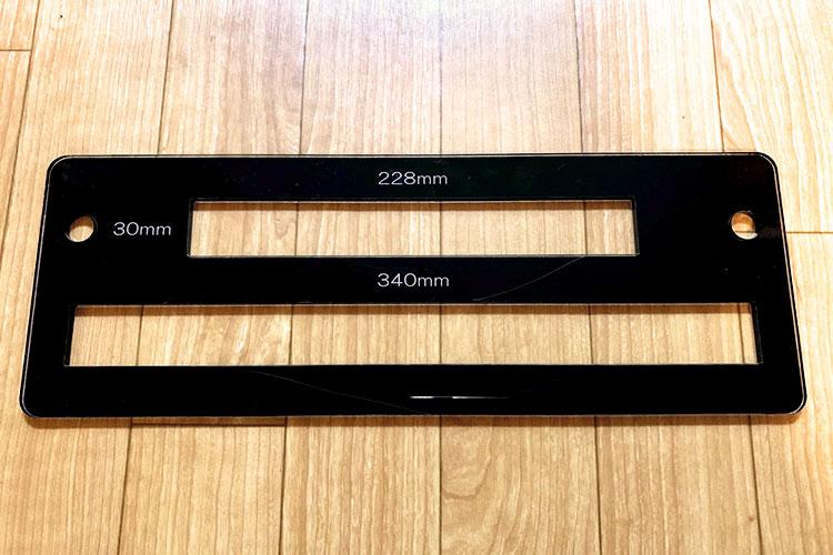 レーザーカッターで「厚さ測定定規」をつくってみました!:レーザーカッターでアクリルで切り出します。