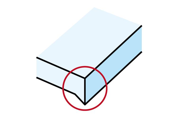 レーザー加工機の焦点が合っていない場合の加工品質への影響:バリが出る。カットできない。