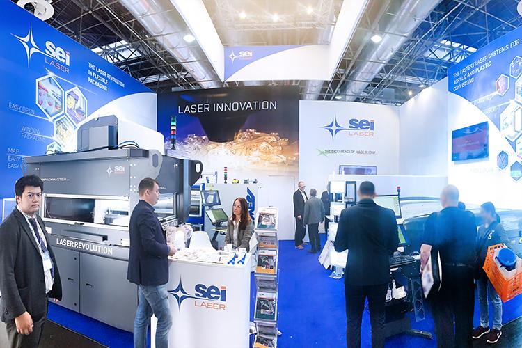 K2019(国際プレスチック・ゴム産業展)でのSEI社の出展ブース