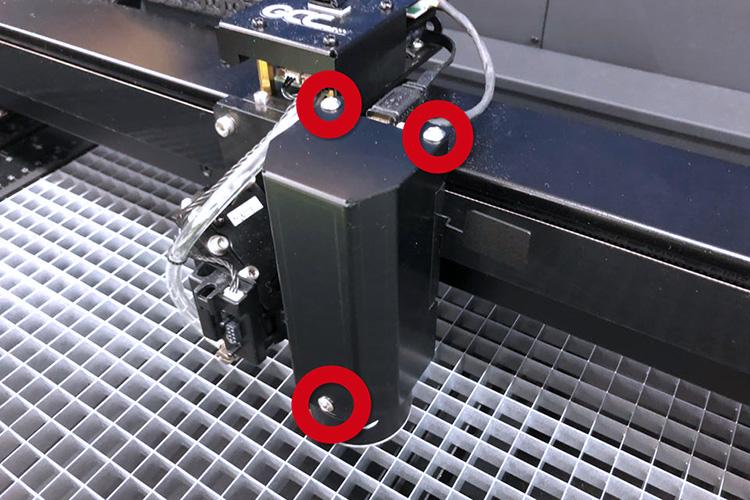 調整前の準備:カメラ保護カバーを外す|GCC S400のCCDカメラのコントラストの調整方法