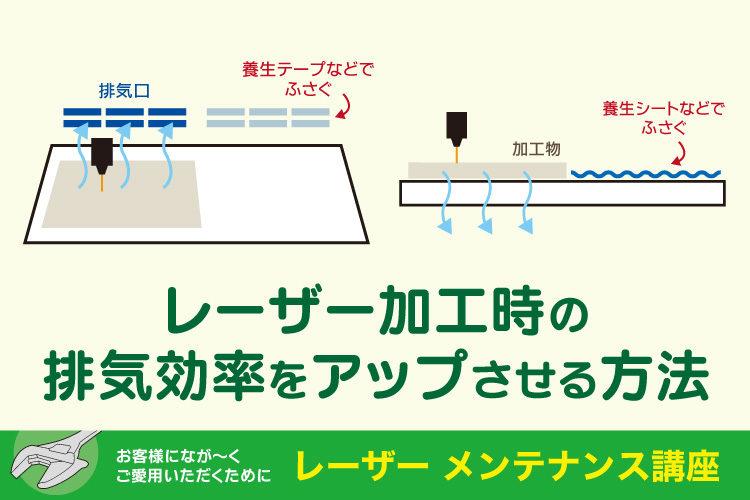 レーザーの加工時の排気効率をアップさせる方法(GCC社製レーザー対象)|レーザーメンテナンス講座