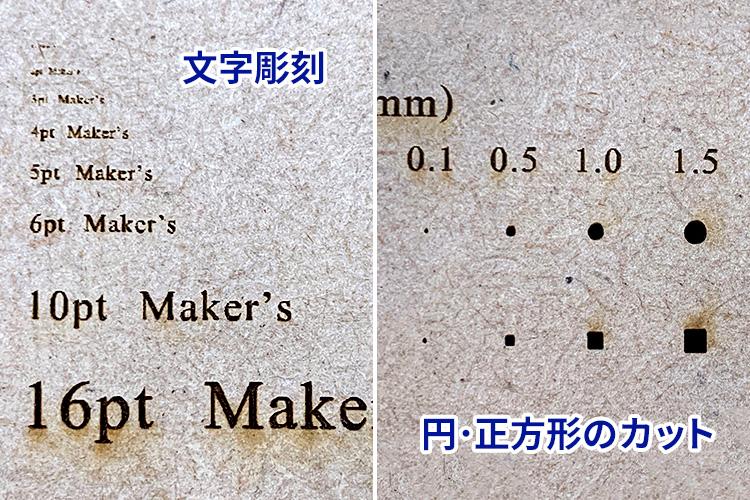 極小サイズのレーザーカット・文字彫刻の仕上がり|レーザー加工用チャートで加工品質維持・効率アップ|レーザー加工道場