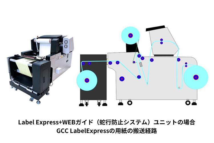 Label Express+WEBガイド(蛇行防止システム)ユニットの場合|GCC LabelExpressの用紙の搬送経路