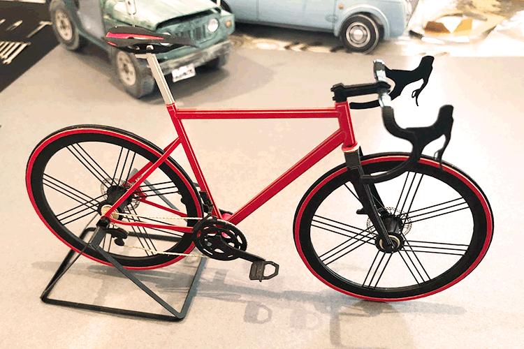 自転車のペーパークラフト。ものすごい完成度です!|W2 studio様のレーザー加工で製作された商品|レーザー加工機の導入事例