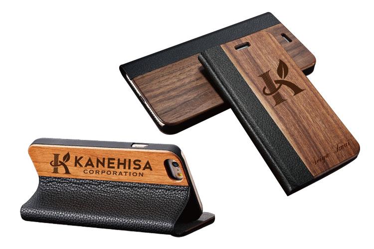 レーザー加工商品:木製iPhoneケース|かねひさ株式会社様|レーザー加工機の導入事例