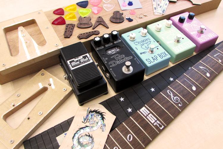 レーザー加工製品:ギター、エフェクターなどへのデザイン加工|ESPエンタテインメント東京様|レーザー加工機の導入事例