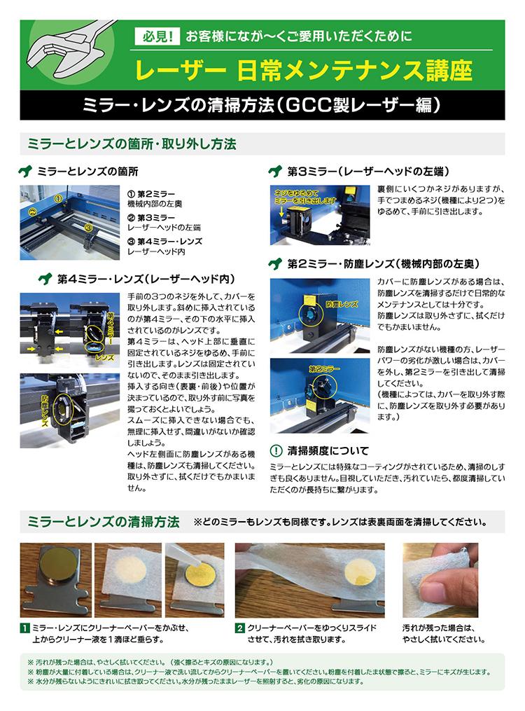 レンズ・ミラーの清掃方法|レーザーメンテナンス講座