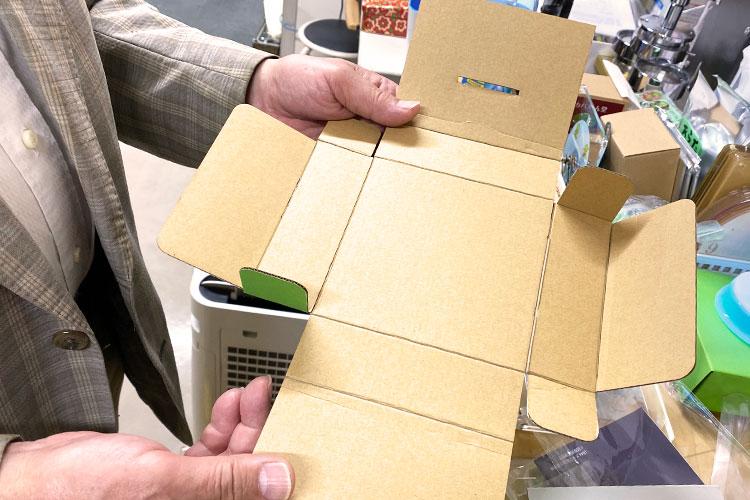 パッケージのクリースもレーザー加工で対応できる|レーザー加工製品|ダーツ様|レーザー加工機の導入事例