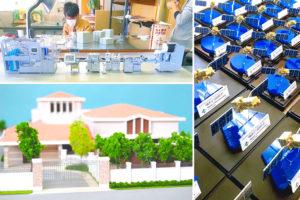 建築模型の材料のカット、目地の表現で活用。レーザー加工機の導入事例:株式会社和模型工房様