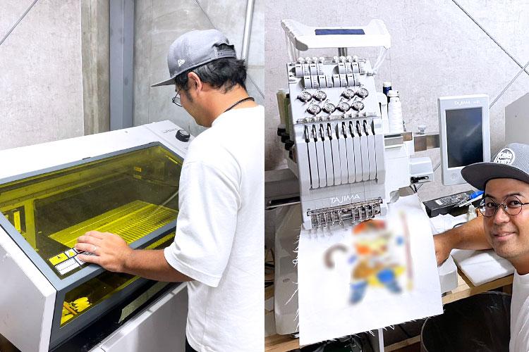 導入機種:UVプリンター Roland D.G. LEF-20/刺繍ミシン TAJIMA SAI Kala Craft様 レーザー加工機の導入事例